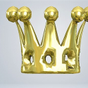 3D Baby Art Crown in Metal Gold Plated