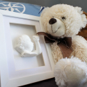 3D Baby Nylon White incl. coating with photo frame