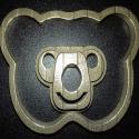 3D Baby Art Teddy Bear Metal