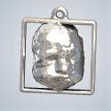 3D Baby Jewel Key Hanger Silver