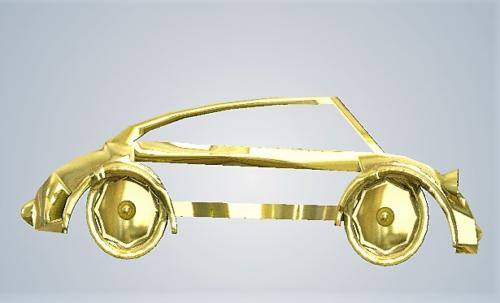 Car metal gold plated