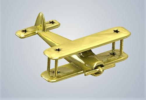 Classic Airplane sold metal gold plated