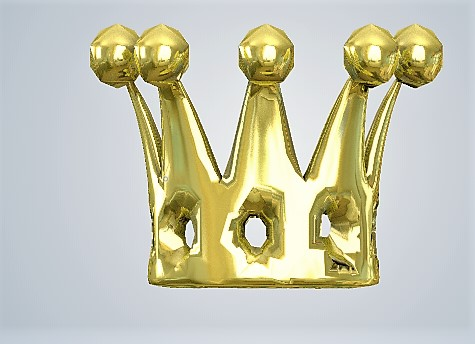 Crown Metal Gold plated