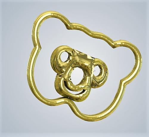teddy Bear Metal Gold plated